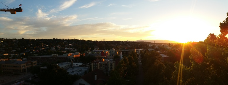 Sunset from Aurora Bridge